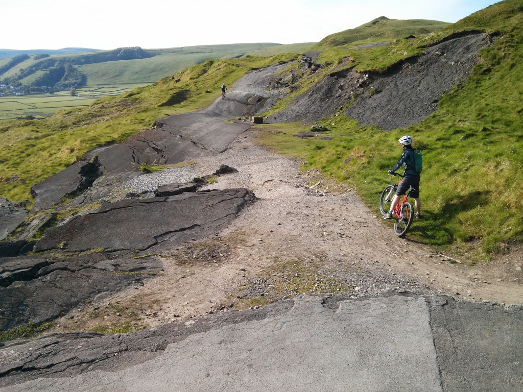 The broken road below Mam Tor